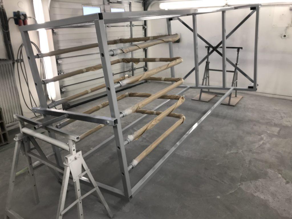 Peinture de chariots de stockage et couvercle de machine industriel